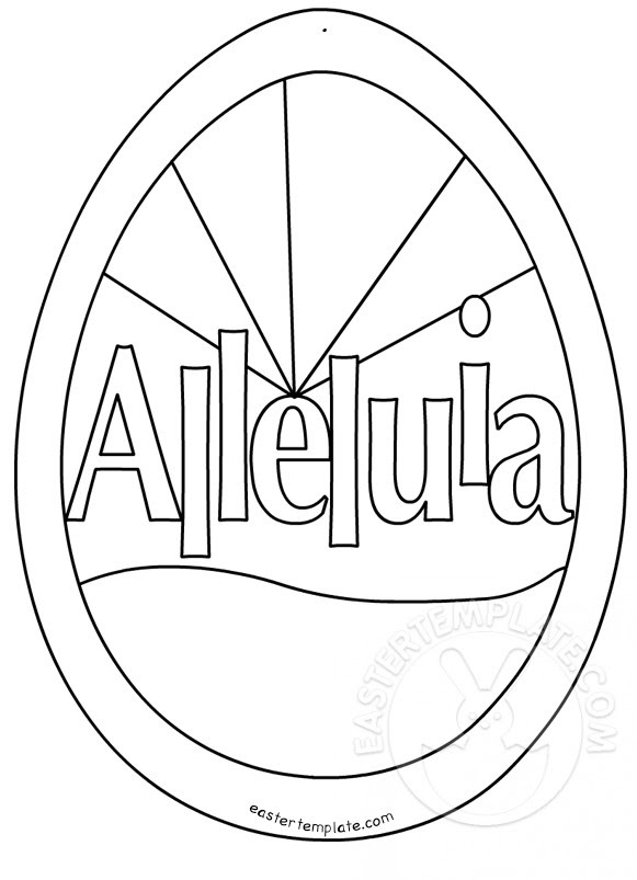 Easter Alleluia coloring page | Easter Template