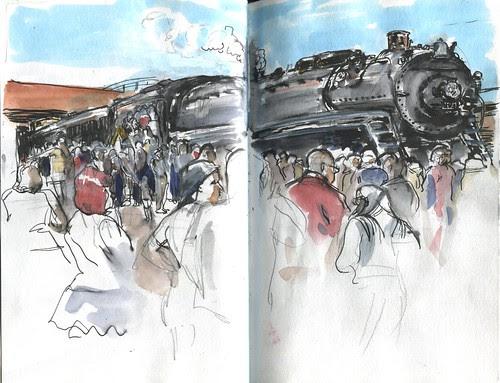 SketchCrawl - Union Station, National Train Day