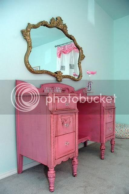 pink vanity vintage