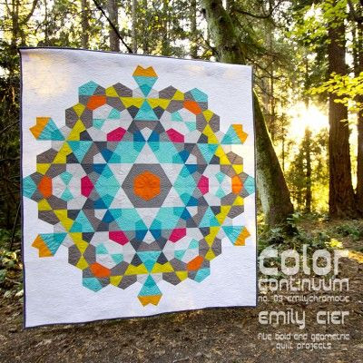 "Stunning ""Bauble"" quilt by Emily Cier from her Color Continuum series. Pattern available here: http://shop.carolinapatchworks.com/product/color-continuum-no-03-emilychromatic"