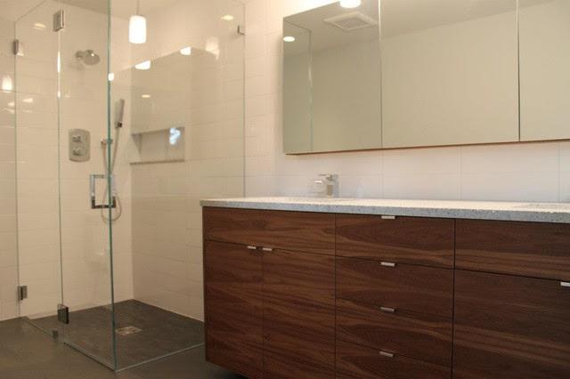 Walnut IKEA Bathroom - Contemporary - Bathroom - other ...
