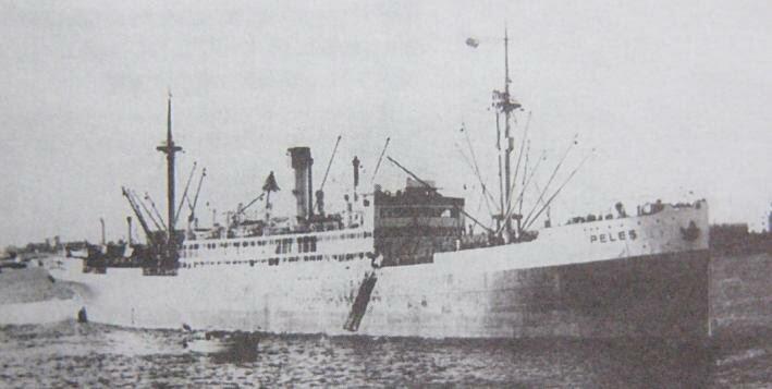 Румынский транспорт Пелес (Peles), уничтоженный подводной лодкой Щ-211