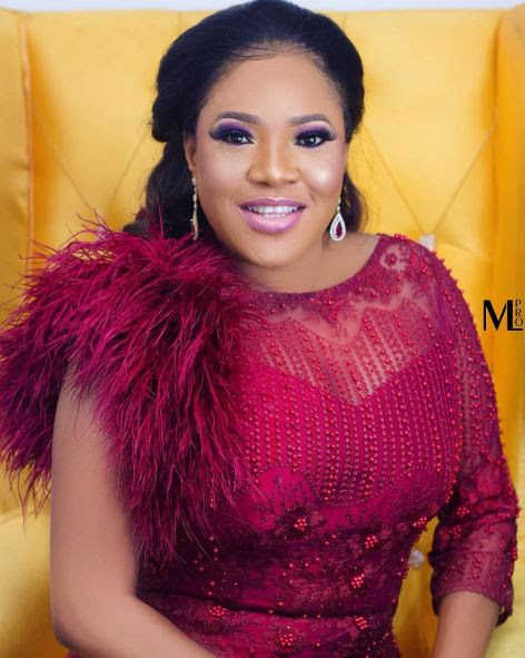 Nollywood Actress, Toyin Abraham Glows In Red Dress