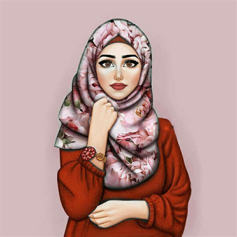 beauty  art islam hijab drawing anime art girl