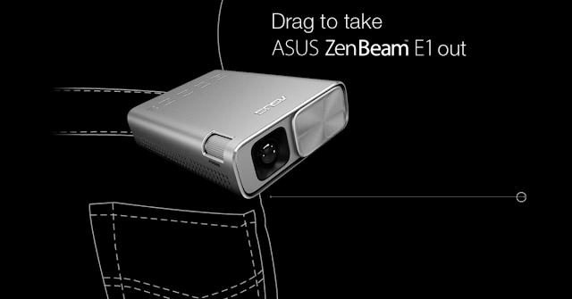 【ASUS ZenBeam E1 投影機】內置電池、輕巧便㩗、隨時隨地播放