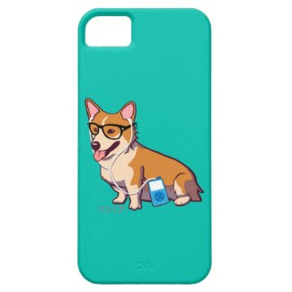 Hipster Corgi iPhone 5 Case-Mate Case (without