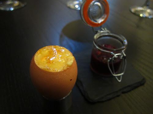 Course 8 - Burnt English custard egg surprise – fruits