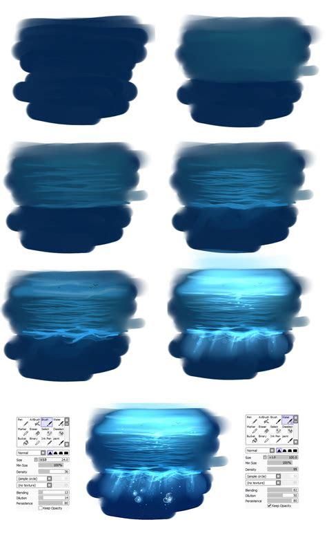 easy water tutorial  ryky  deviantart
