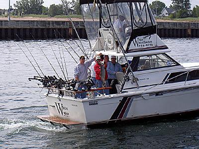 Fishermen show off catch