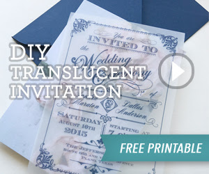 DIY Translucent Wedding Invitation with Free Printable | Download & Print