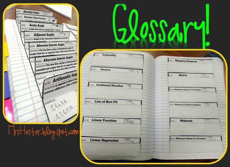 Mrs. Hester's Classroom: Top 5 Things I LOVE About Interactive Math Notebooks: #1-2