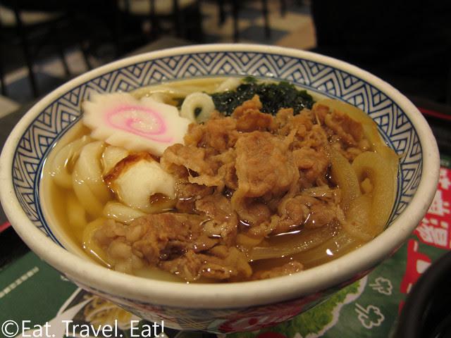 Beef Udon- Yoshinoya, Hong Kong