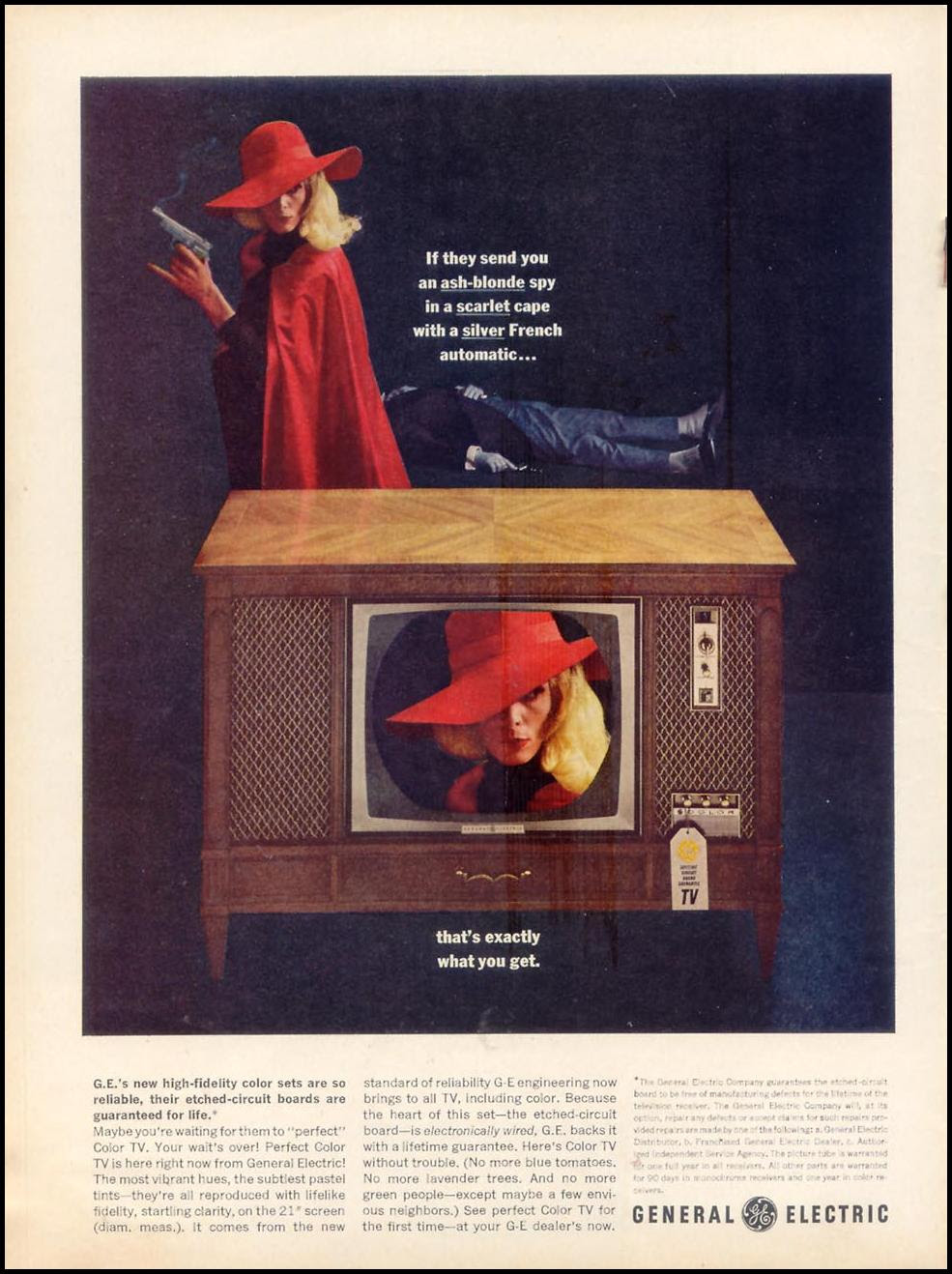 GENERAL ELECTRIC PERFECT COLOR TELEVISION TIME 12/06/1963 p. 8