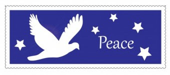 Dove Christmas Postage Stamp