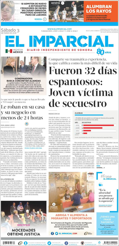Portada de El Imparcial (México)