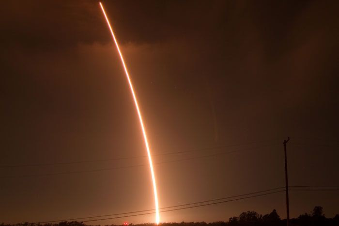 A Taurus XL rocket carrying NASA's Glory spacecraft soars skyward after being launched from Vandenberg Air Force Base in California on March 4, 2011.