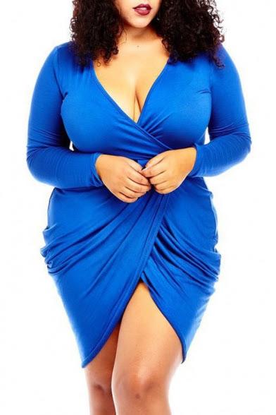 Deep v neck bodycon dress size 16
