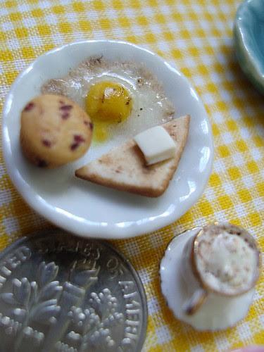 Kim's runny egg breakfast