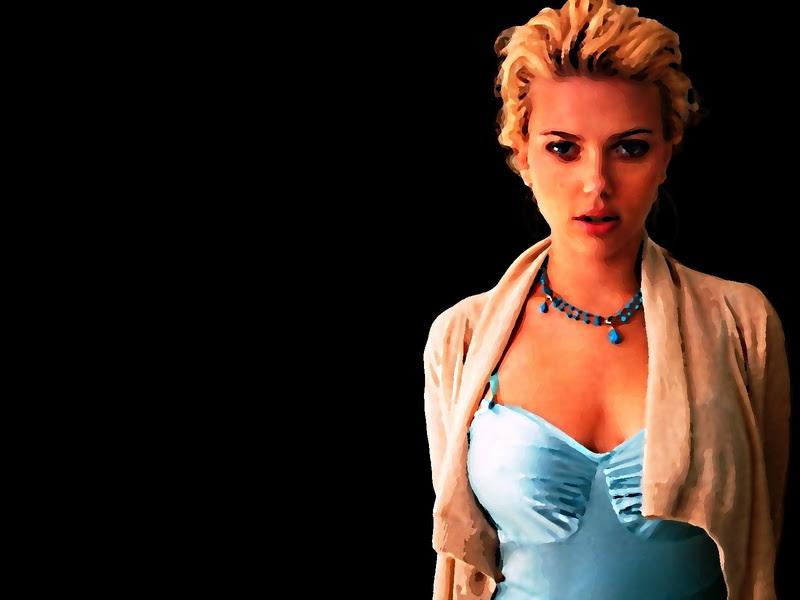 Scarlett Johansson ice blue