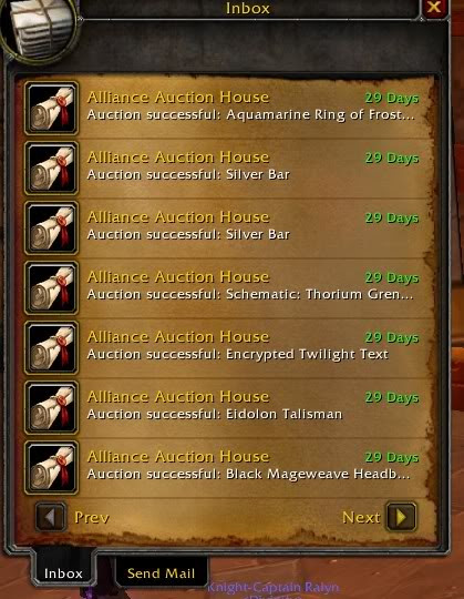 Warcraft: Sell High