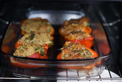 Täidetud paprikad valmimisjärgus / Stuffed peppers in the making
