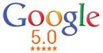 Google 5.0 star reviews!