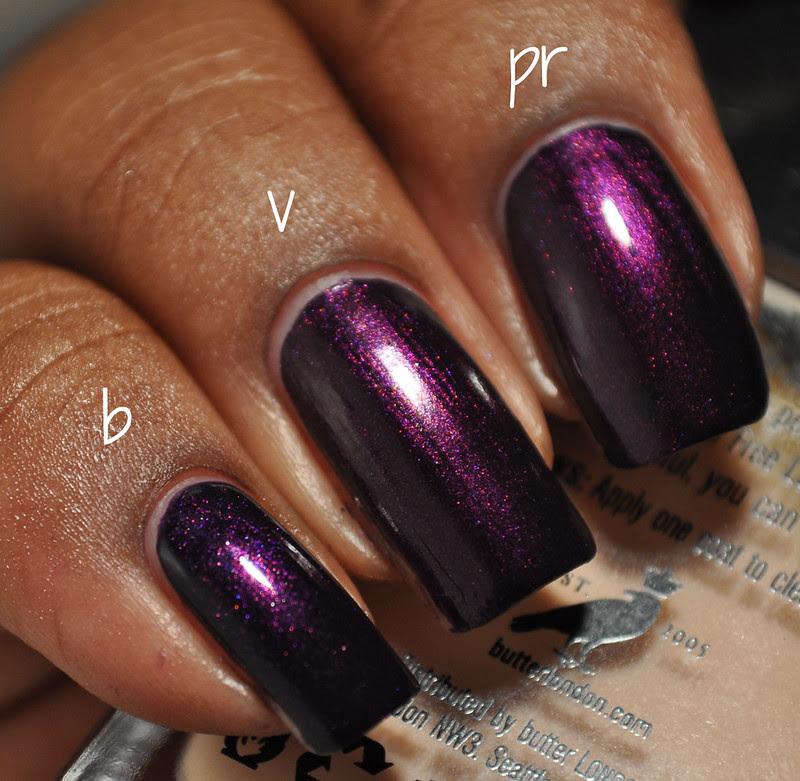 deep purple shimmer nail polish comparison