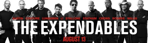 "The Expendables  Yesterday, I had this sudden craving for good movies and that basically ended up with this movie. The Expendables is a melting pot of all the hardcore action-adrenaline movies you will see as of late 2010. It has not only Sylvester Stallone but also the brightest and most sought after action movie stars like Jason Statham, Jet Li, ""Stonecold"" Steve Austin, and a lot more! I can't tell you enough how I shizzed myself with this movie. The fight scenes was impeccable, the guns, the tactics, and even the plot itself was something. It wasn't just any other action movie that punches you in the face with good looking girls and fight scenes like there's no tomorrow. This movie actually let's you see beyond the facade of ""relentless killing machines"".  I won't go on to the details, but just watch it guys. But I have to warn you though, it has some freaking excessive violence. But all in all, it's all you can ask for in terms of the action, adventure, and hard kicking fuckers. :)"