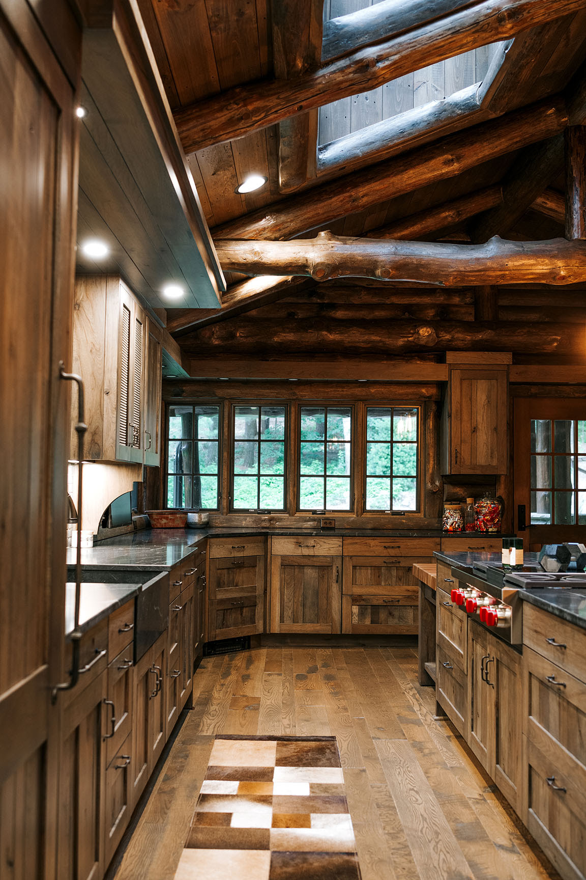 Distressed Rustic Hickory kitchen cabinets - Alpine ...