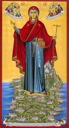 La Mère de Dieu, Higoumène du Mont Athos