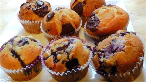 Christmas Muffins How to Make Chocolate or Blueberry