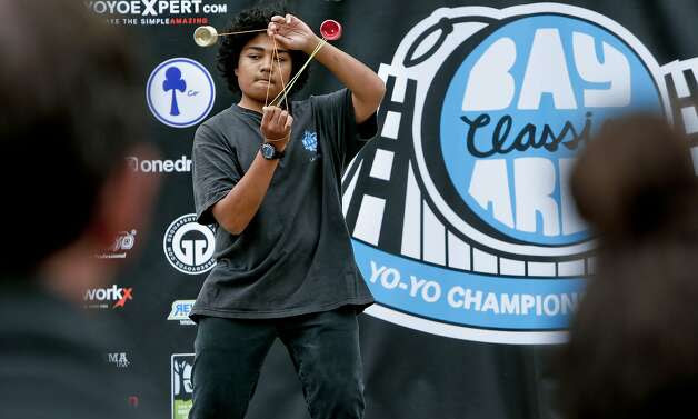 Takaki Clark of Valley Springs, Ca. performs during the 17th annual 2014 Bay Area Classic yo-yo contest at the bandshell in Golden Gate Park , Calif., on Saturday May 24, 2014. The Bay Area Classic yo-yo contest is one of the longest-running regional yo-yo contests in the United States, and has garnered the respect and admiration of Skilled Players from around the world. Photo: Michael Macor, The Chronicle