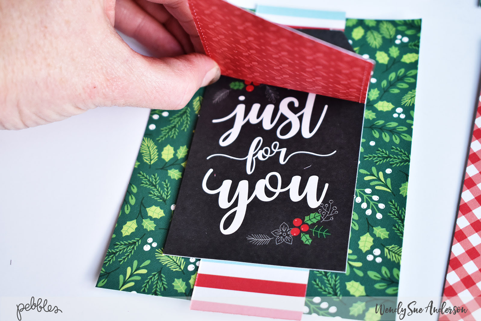 """Quick and Easy Christmas Card Set by Wendy Sue Anderson for @PebblesInc. with the """"Cozy & Bright"""" Collection"""