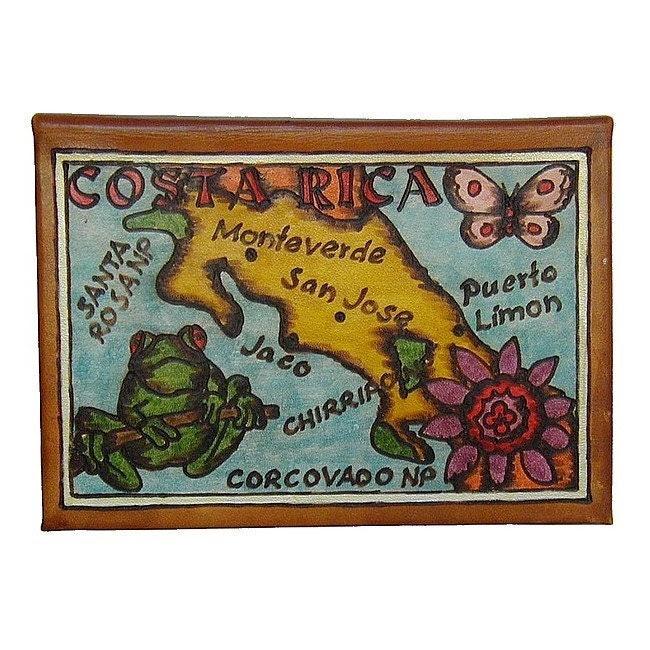 COSTA RICA - Leather Travel Journal / Sketchbook - Handmade