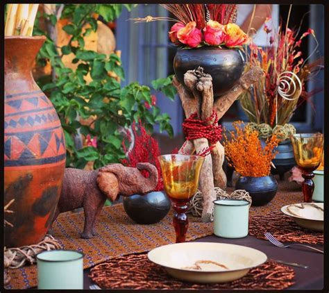 98 best African Inspired Table Settings images on