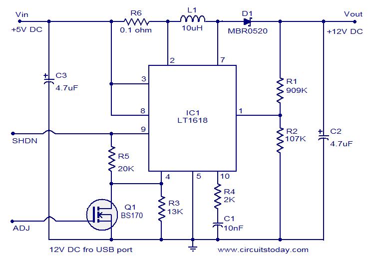 12 Volt Dc Power Supply From Usb Port Wiring Schema Blogs