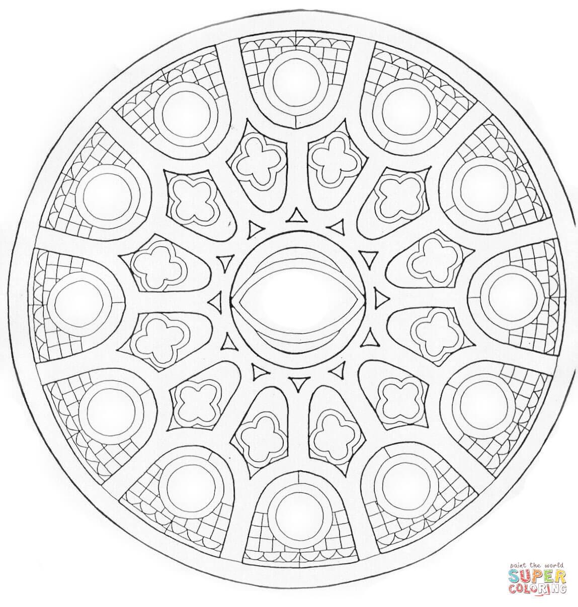 Dibujos De Mandalas Avanzadas Para Colorear Páginas Para Imprimir