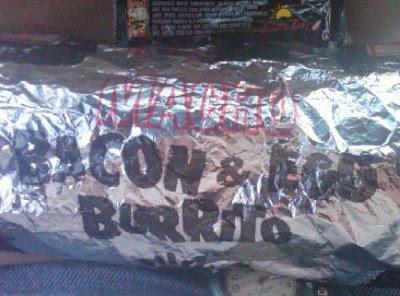 Naugles Macho Bacon and Egg Burrito