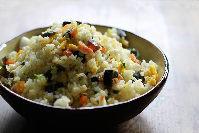 Three Eggs (Normal, Salted & Century Egg) Fried Rice