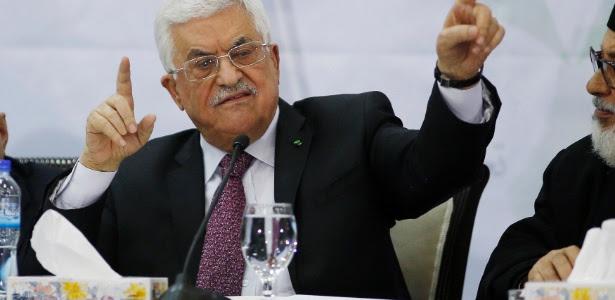 O presidente palestino Mahmoud Abbas
