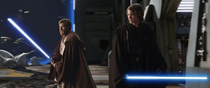 Obi-Wan Kenobi and Anakin Skywalker confront trouble onboard The Invisible Hand.