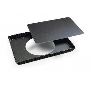 Moule à tarte rectangulaire avec fond amovible - Gobel - 29 cm
