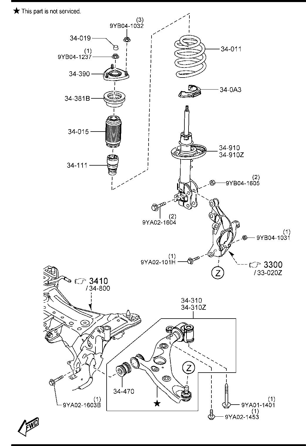 Mazda 6 Parts List