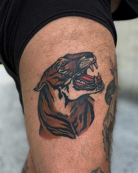 traditional tiger tattoo  javier betancourt inked