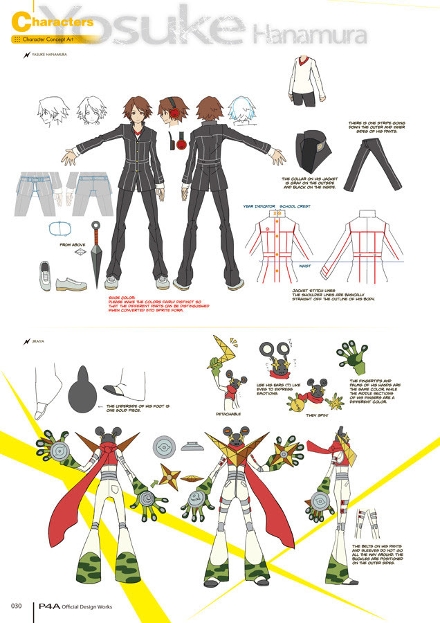 Crunchyroll Udon Previews Persona 4 Arena Official Design Works