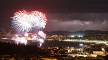 Queima de fogos em Nice