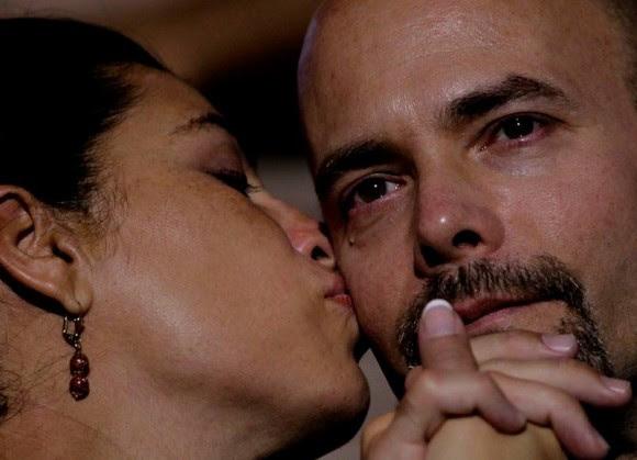 Gerardo Hernández y Adriana Pérez en el Concierto de Silvio Rodríguez. Foto: Ismael Francisco/ Cubadebate