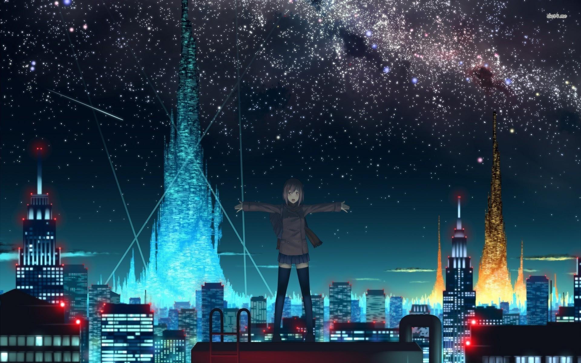Ideas For Anime City Night Wallpaper 4k