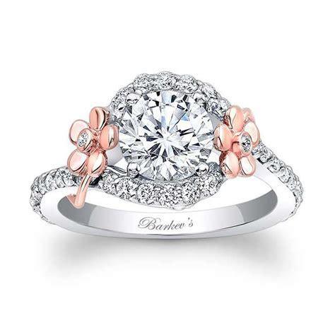 Barkev's Flower Engagement Ring 7936LT   Barkev's