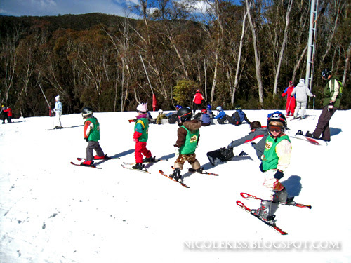 milo kids preparing to ski